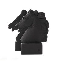bookends_horse_black